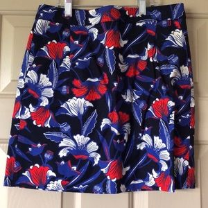 J.crew Blue floral skirt in good condition
